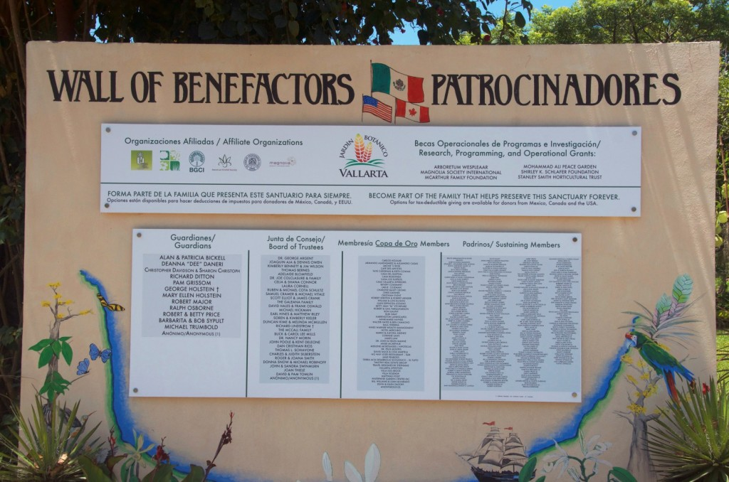 Wall of Benefactors, Vallarta Botanical Gardens